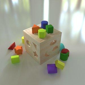 3D puzzle wooden model