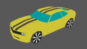 2010 muscle car 3D model