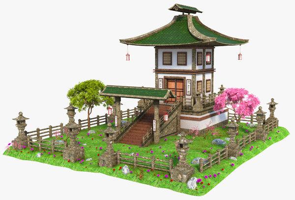 asia asian house model