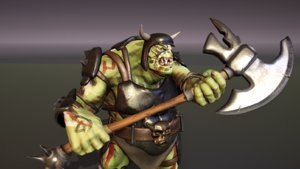 ogre animations armor weapon 3D model