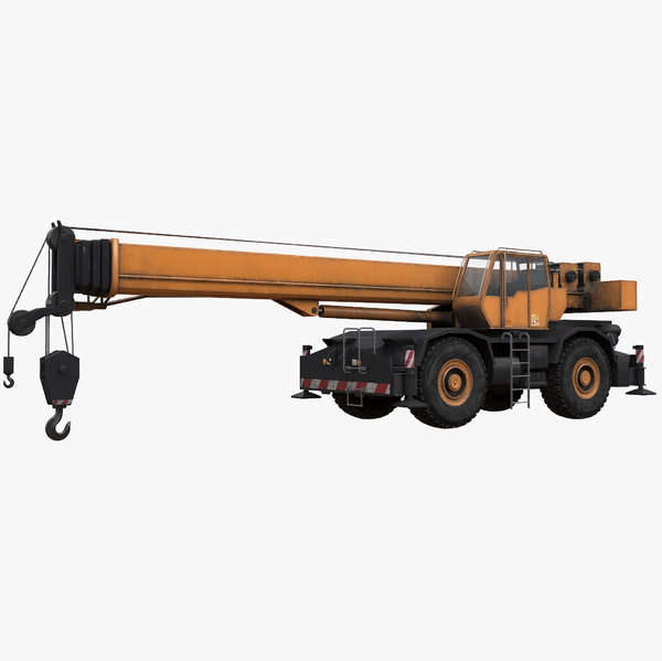 3D rigged rough terrain crane model