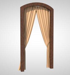 curtain fabric drapery model