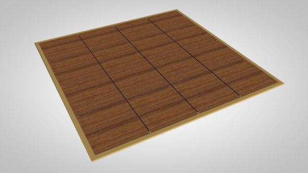 3D dancefloor dance floor model
