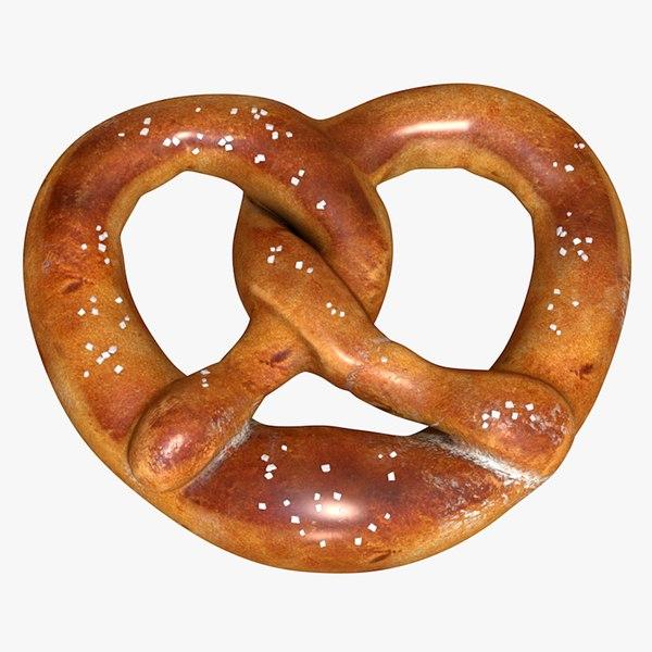 realisct pretzel 3D model