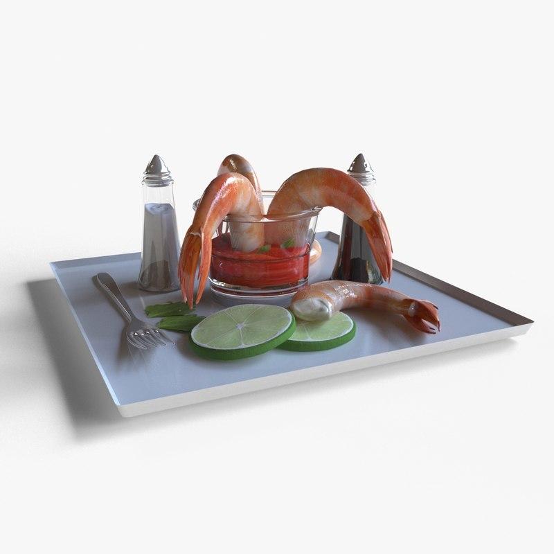 shrimp cocktail 3D