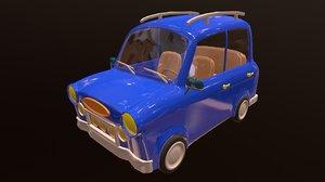 3D cartoons car