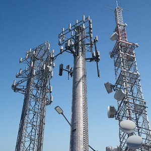 telecommunication towers 3D model