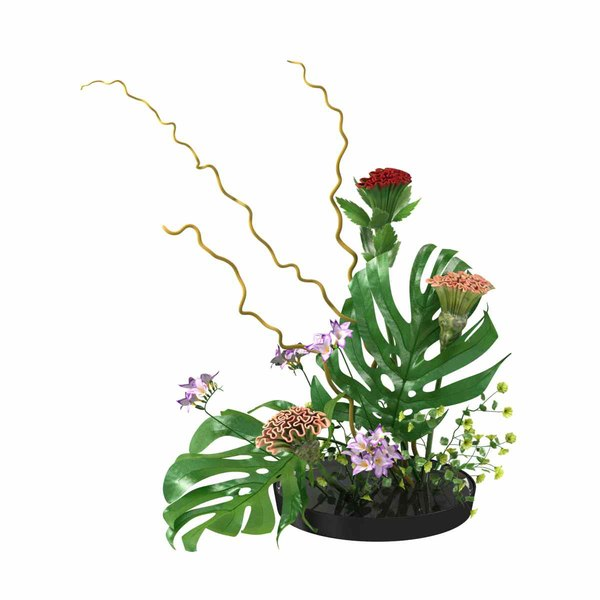 3D model ikebana japanese art flower