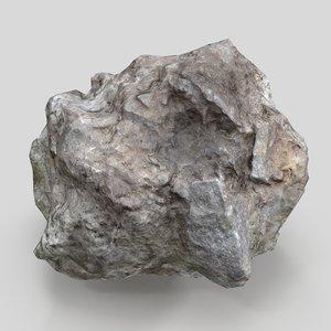 asteroid meteorite rock 3D