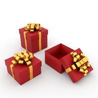 3D model set sample gift boxes