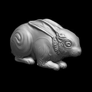 hare rabbit animal 3D model