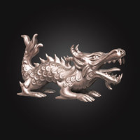 3D model dragon character