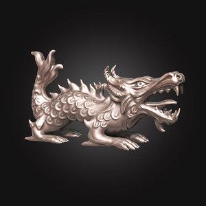 3D model dragon character