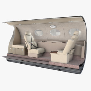 3D model cessna mustang emergency exit