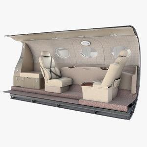 3D model cessna mustang emergency exit