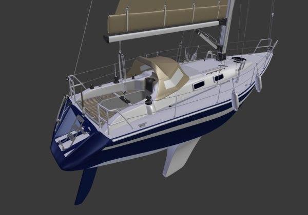 sail ship 3D model