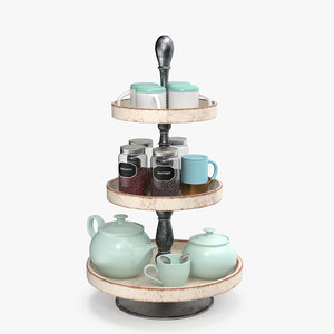 shelf dishes 3D model