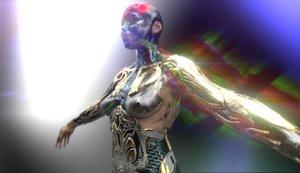 3D woman robot
