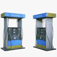 ready gas pump 3D
