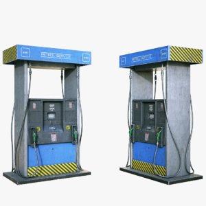 ready gas pump 3D