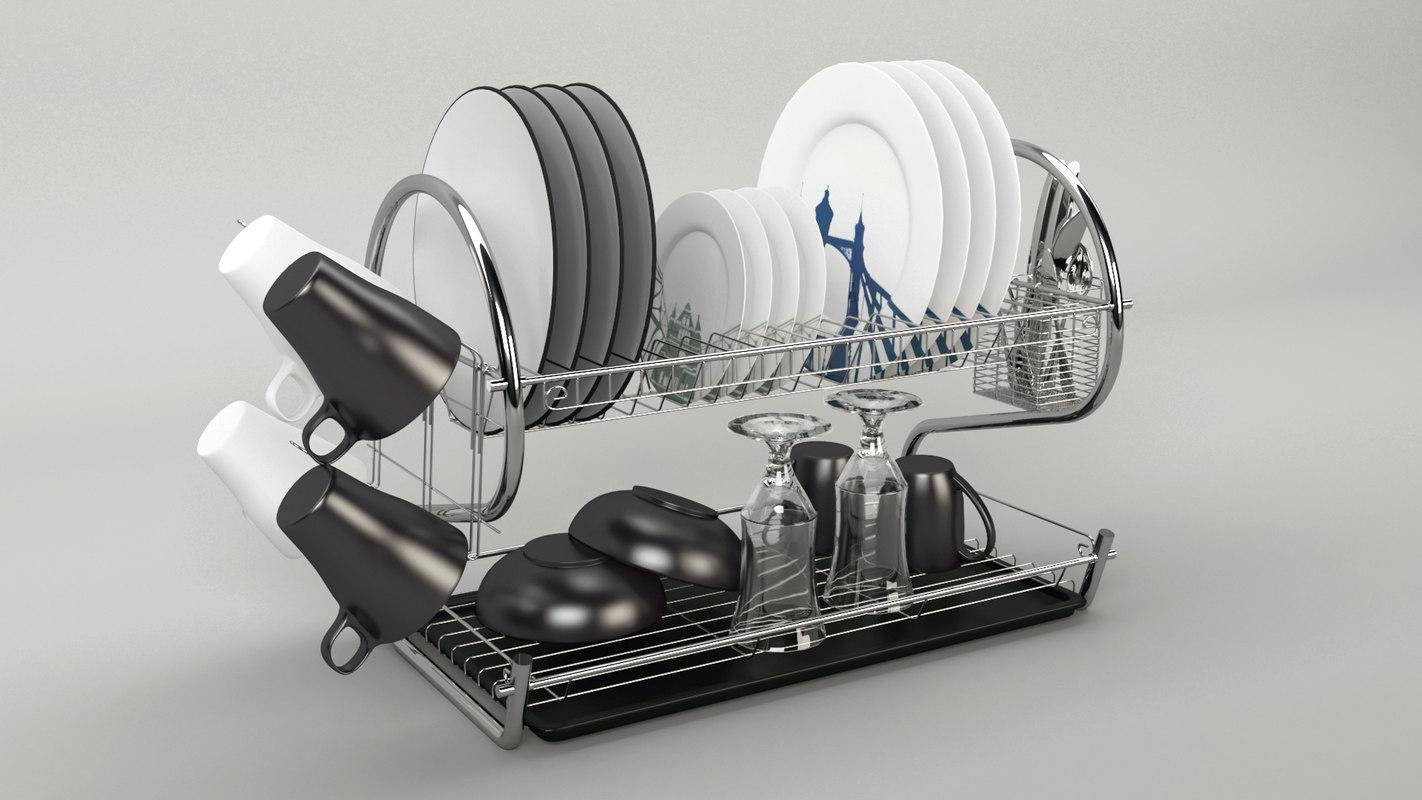 dishes kitchen model