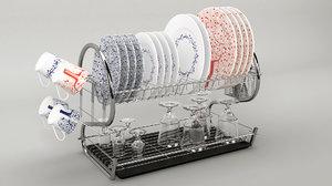 3D dishes kitchen