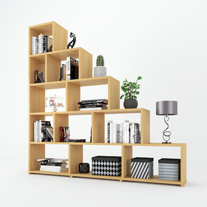 3D staircase shelf decorations