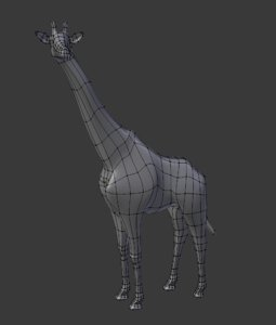 3D giraffe animal
