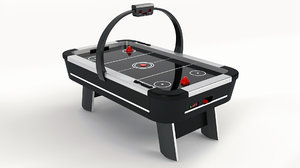 real air hockey table 3D model