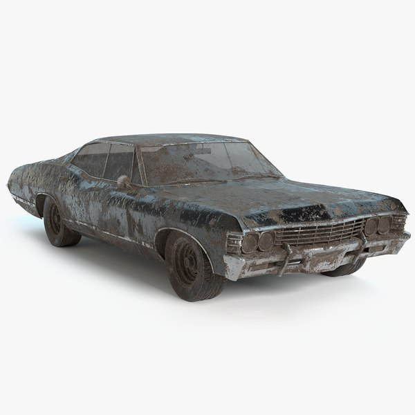 abandoned vehicle pbr model