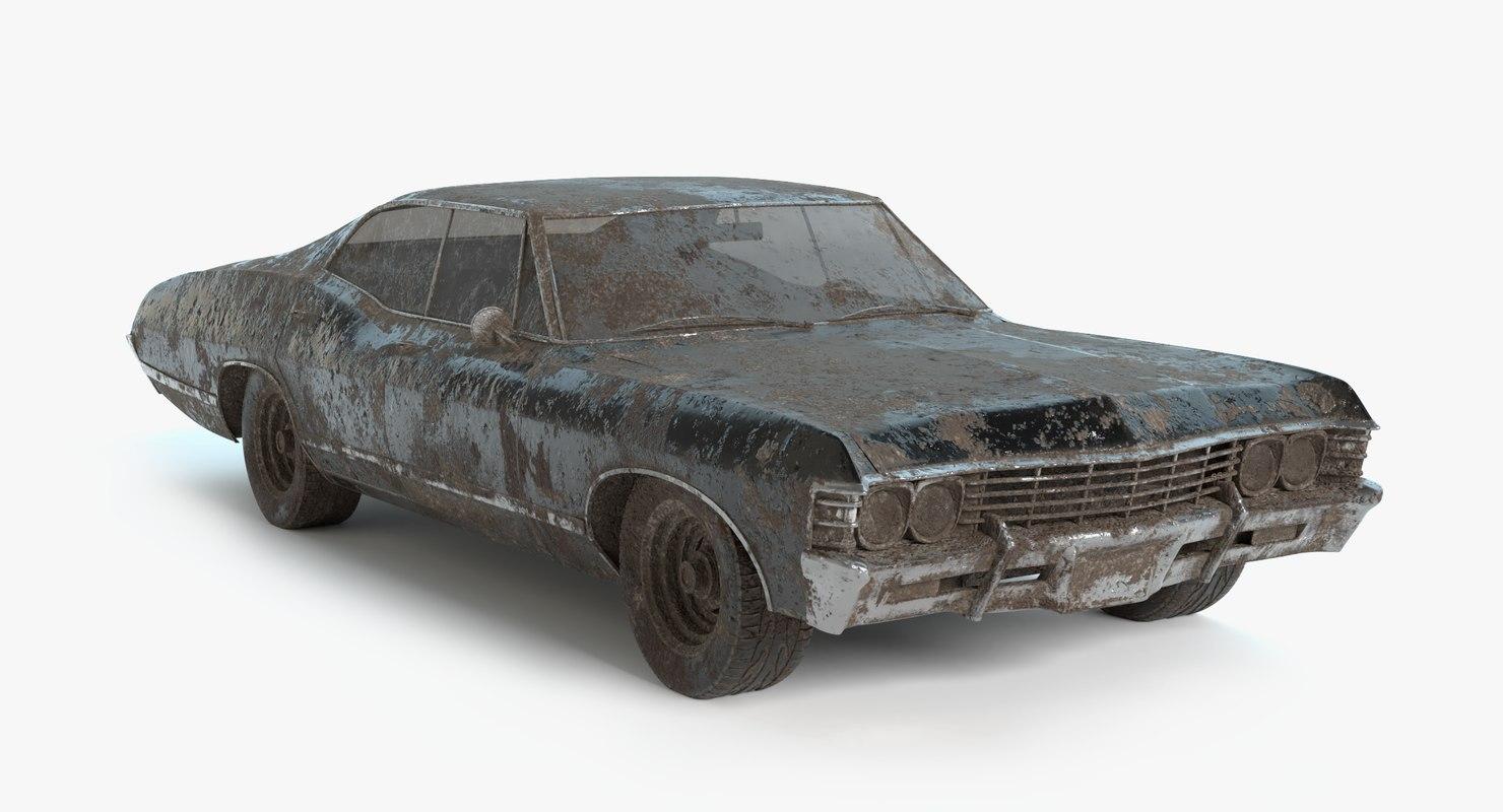 abandoned vehicle pbr model