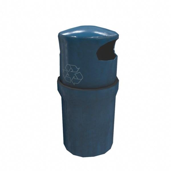 3D trash bin contains