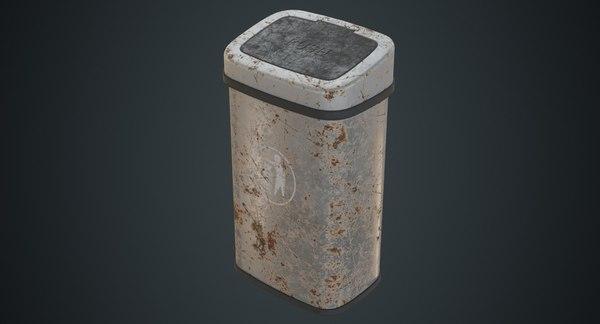 3D dustbin contains 6b model
