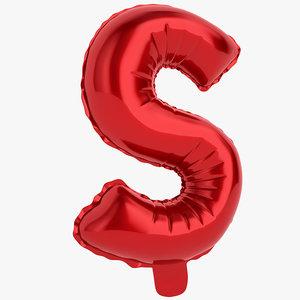 balloon letter s 3D model