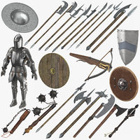 Medieval Battle Weaponry and Armor Collection