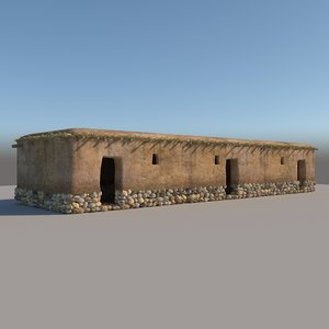 3D prehistoric neolithic structure model