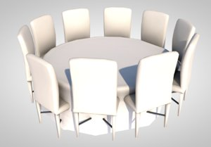 3D banquet table