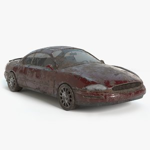 abandoned vehicle pbr 3D model