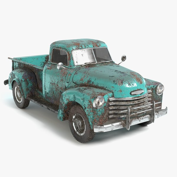 3D old abandoned truck model