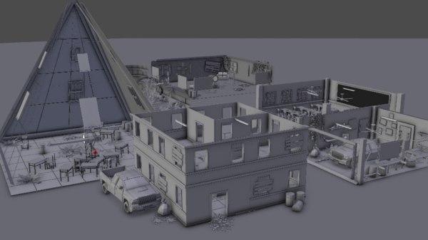 3D blender asset
