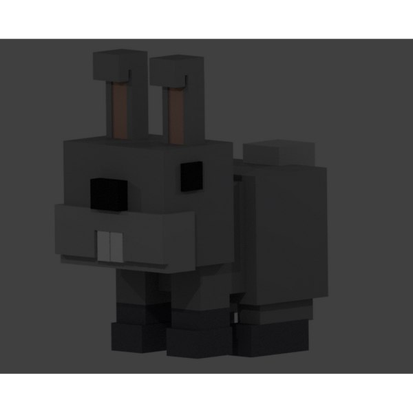 rabbit voxel 3D model