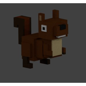 squirrel voxel 3D model