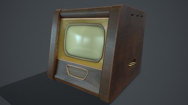 3D pbr old tv