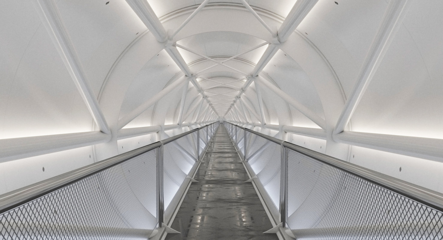 3D model corridor realistic generated