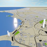 3D kuwait streets mapping model
