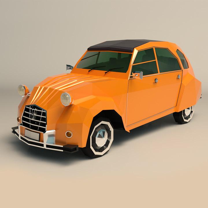 3D model city car
