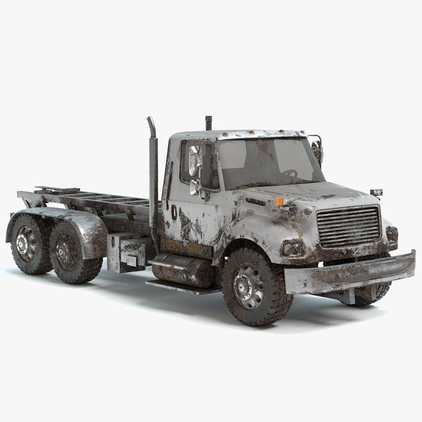 3D large abandoned truck
