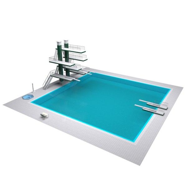 diving pool model