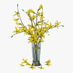 forsythia vase 3D