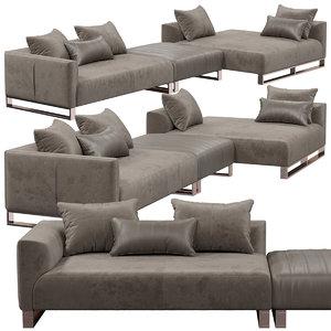 longhi fold sofa 3D